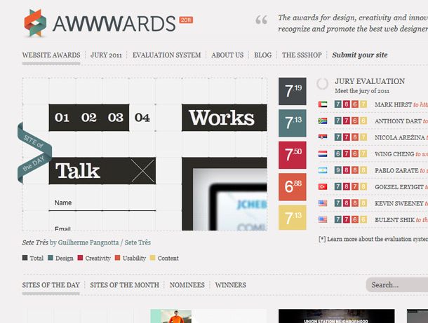Awwwards / Site of the Day