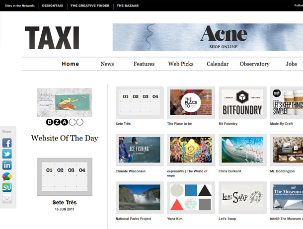 Design Taxi / Site of the Day